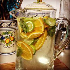 Infuse water Detox Cleanse  lemon orange mint basil
