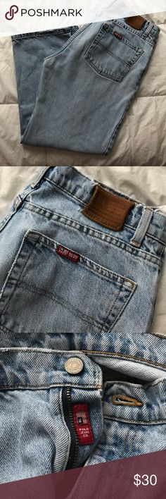 """Tommy Hilfiger """"Mom Jeans"""" These are a vintage style size 10 that did not fit me! I was hoping for something a little tighter! True to size vintage wear! Please note I will provide measurements as well! So good just don't fit me and it was NOT the sellers fault so I am reselling. Not Levi's but similar! Levi's Jeans"""