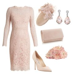 A fashion look from August 2017 featuring lace dress, manolo blahnik shoes and pink purse. Browse and shop related looks. Elegant Outfit, Classy Dress, Classy Outfits, Elegant Dresses, Pretty Dresses, Stylish Outfits, Curvy Women Fashion, Plus Size Fashion, Womens Fashion