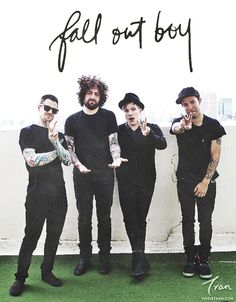 Fall out Boy,the band that told people to stop hating Nickelback.And the band that got a Peoples Choice Award in can guess they're pretty cool.(By the way if your name is Brad your a rad,heheyo <<< Joe is a mood Patrick Stump, Pete Wentz, Emo Bands, Music Bands, Fall Out Boy Songs, Save Rock And Roll, Soul Punk, Young Blood, Film Music Books