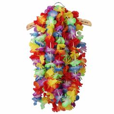 Free Shipping Hawaiian Tropical Party Hen Night Fancy Dress Necklace 10 Leis Flower Garlands Hot Sell #Affiliate