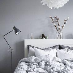 softness #bedroom styling #grey #white