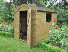 8x6 Shiplap Apex Shed    Strong and attractive shiplap construction with high quality fittings throughout including a fully braced door and high quality perspex window providing natural light