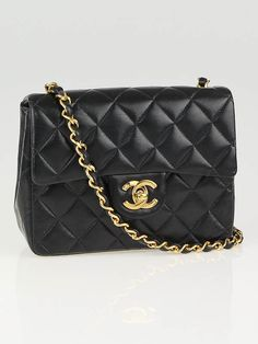 Chanel Black Quilted Lambskin Leather Classic Mini Flap Bag