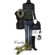 A fashion look from November 2012 featuring Ermanno Scervino sweaters, Lanvin vests and MANGO jeans. Browse and shop related looks.