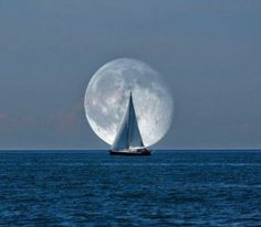 Ah the sea, sails , and the supermoon.