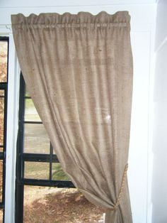 Burlap Curtain 'The COUNTRY CURTAIN' 38 wide X