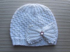 Number 98  Beginner KNITTING PATTERN Small Drops Stitch Hat for a Girl 12-18 months, 3-6 years. $2.80, via Etsy.