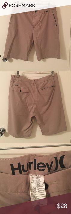 Men s Tan Hurley Nike Dri-Fit Hybrid Shorts Men s Tan Hurley Nike Dri-Fit 76eb491077d