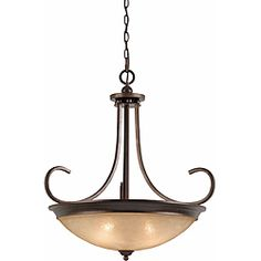 @Overstock - Add a beautiful, illuminating accent to any room in your home with this Triarch International four-light pendant chandelier. This light fixture features an elegant English bronze finish and scavo rainbow glass, and includes 60 inches of chain.http://www.overstock.com/Home-Garden/Triarch-International-4-light-English-Bronze-LaCosta-Pendant-Chandelier/6382457/product.html?CID=214117 $369.00