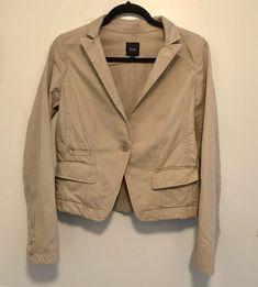 2ae3cdcd74e67 Gap Women s Blazer Jacket Tan Brown Lined Stretch Career Work 2 Buttons  Size 2  gap