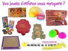 Vos jouets d'enfance sont de retour sur Génération Souvenirs. Retrouvez-nous sur : www.generation-souvenirs.com