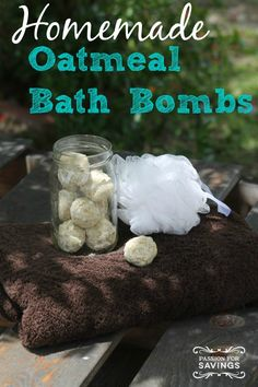 Homemade Oatmeal Bath Bombs for an Easy DIY Craft or Homemade Gift Idea for Christmas!