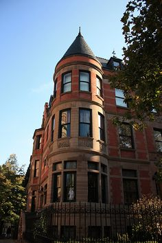 The house on Archer Ave that Royal Tenenbaum bought in the winter of his thirty-fifth year. Harlem Apartment, Dream Apartment, The Royal Tenenbaums, Brick Facade, House On A Hill, Curb Appeal, Townhouse, New York City, Harlem Nyc
