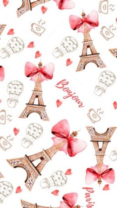 Love Pink Wallpaper, Sassy Wallpaper, Paris Wallpaper, Fashion Wallpaper, Pattern Wallpaper, Iphone Wallpaper, Paris Clipart, Digital Paper Free, Paris Images