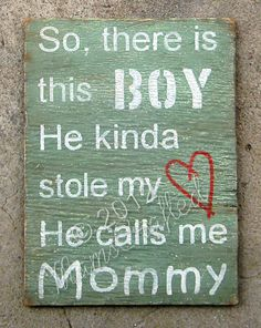There's+This+Boy+Large+10x14+Weathered+Wood+Wall+door+MamsCrafted,+$52,00