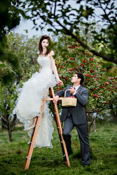 Rustic Apple Orchard Wedding Inspiration  Photos by:ENV Photography & Picture That Photography