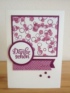 Stampin up Playful Backgrounds und Timesless Textures