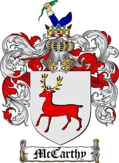 The McCarthy Clan coat of arms / family crest produced and copyright of www.4crests.com