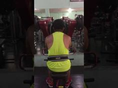 Victor Guno doing Machine Back Work-out Routine