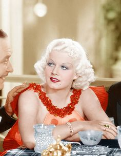Faces of Film: Jean Harlow, The Belle of the Blondes Old Hollywood Glamour, Golden Age Of Hollywood, Vintage Hollywood, Hollywood Stars, Classic Hollywood, Vintage Vogue, Vintage Glamour, Jean Harlow, William Powell