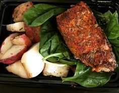 What's on your plate? We're having one of our favorites, blackened salmon, for lunch today!