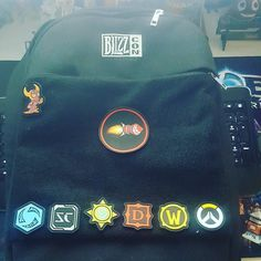 This backpack is pretty legit. Yet another awesome piece from #Blizzcon.  Do you see the pat h for a game you play?  #overwatch #Hearthstone #starcraft #starcraft2 #worldofwarcraft #Warcraft #wow #diablo #diablo3 #heroesofthestorm #hots #blizzard #Blizzcon2017 #ragnaros #wowhead
