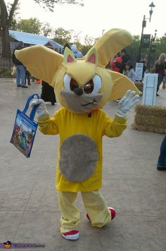 """""""Tails"""" from Sonic the Hedgehog - Homemade Halloween Costume"""