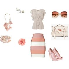 Spring work outfit, created by #debirogers17 on #polyvore.