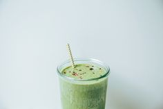 matcha mint chip green shake // @thefirstmess