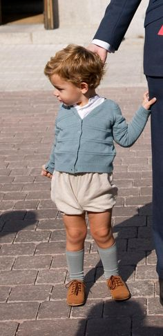 Cute toddler boys shorts and long socks outfit