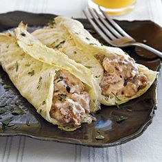 Egg Crepes with Sausage | CookingLight.com