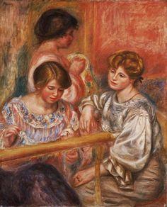 Les brodeuses. Huile sur toile en 1902 de Pierre Auguste RENOIR (français)