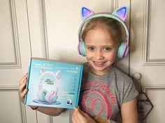 cat headphones with led for kids, wireless headphones for kids with microphone and LED, bluetooth headphones with led Wireless Cat Headphones, Kids Headphones, Xmas Gifts For Kids, Music Stuff, Squad, Ears, Mermaid, Led, Manga