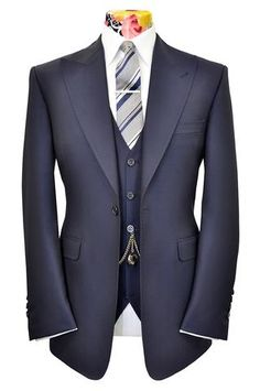 The Morgan Prussian Blue Pinhead Weave Suit