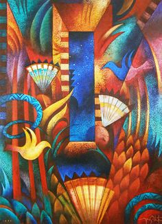 Tony Abeyta Art For Sale - 0 Listings Small Paintings, Indian Paintings, American Indian Crafts, Domino Art, Cubism Art, Native American Artists, Islamic Art Calligraphy, Southwest Art, Colorful Artwork