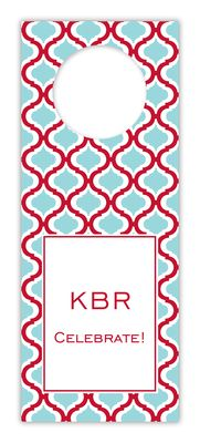 Kate Red and Teal Wine Tags
