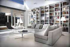 Contemporary living room with Viccarbe furnishings available through http://www.switchmodern.com/manufacturers/viccarbe.asp