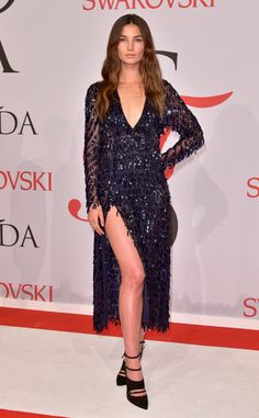 Lily Aldridge from 2015 CFDA Fashion Awards: Red Carpet Arrivals   E! Online