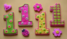1st birthday cookie favors