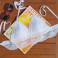 This bikini is 100% rayon made and fits true to size  100% handmade crochet by real people  High qua