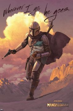 Star Wars Fan Art, Star Wars Cute, Images Star Wars, Star Wars Pictures, Star Wars Poster, Pulp Fiction, Science Fiction, Regalos Star Wars, Mandalorian Poster