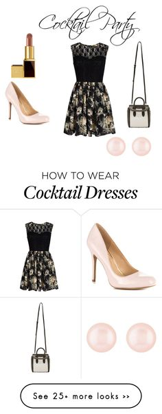 """""""Decode the Dress Code: Cocktail Party"""" by collegelifestyles on Polyvore featuring Mela Loves London, Jessica Simpson, Tom Ford, Alexander McQueen, Henri Bendel, outfit, dress and dresscode"""