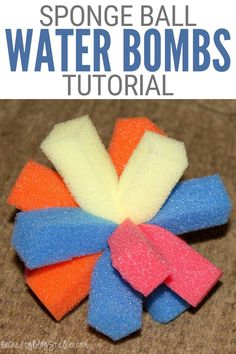Get wet and have fun with DIY Sponge Ball Water Bombs this summer. Click here for the complete step-by-step tutorial. #thecraftyblogstalker #spongeballs #waterbombs #summercrafts Creative Crafts, Easy Crafts, Crafts For Kids, Diy Sponges, Water Bombs, Summer Crafts, Own Home, Fun Projects, Diy Tutorial