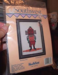 Needleform Counted Cross Stitch Southwest Kachina Doll 1989 Kit # 888 #Needleform #Sampler