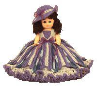 """7242 PDF Crochet Bed Doll Pattern 13"""" Jolene"""