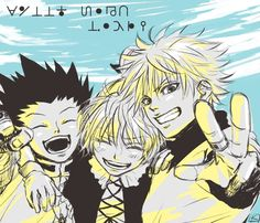 Killua zoldyck Gon Freecs and biscuit Krueger Hunter x Hunter