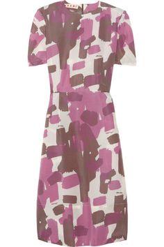 Marni printed shantung dress