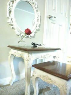 Beautiful antiqued vanity