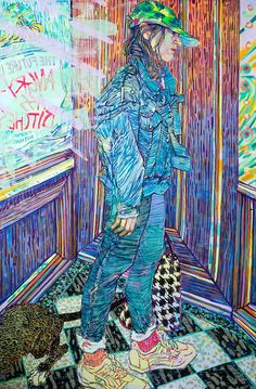 Expressive Color-Filled Portraits of Friends and Family by Hope Gangloff Art And Illustration, Hope Gangloff, Colossal Art, Painting Videos, Figure Painting, Hope Painting, Painting Canvas, Figurative Art, Art Inspo